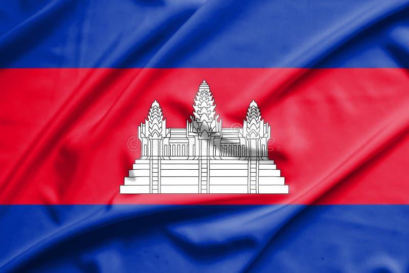 Bandiera della Cambogia fotografie stock libere da diritti