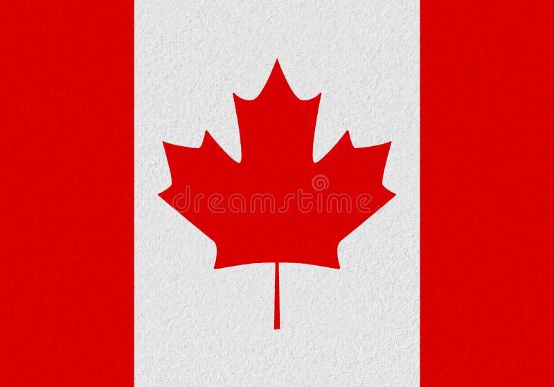 Bandiera della carta del Canada immagini stock