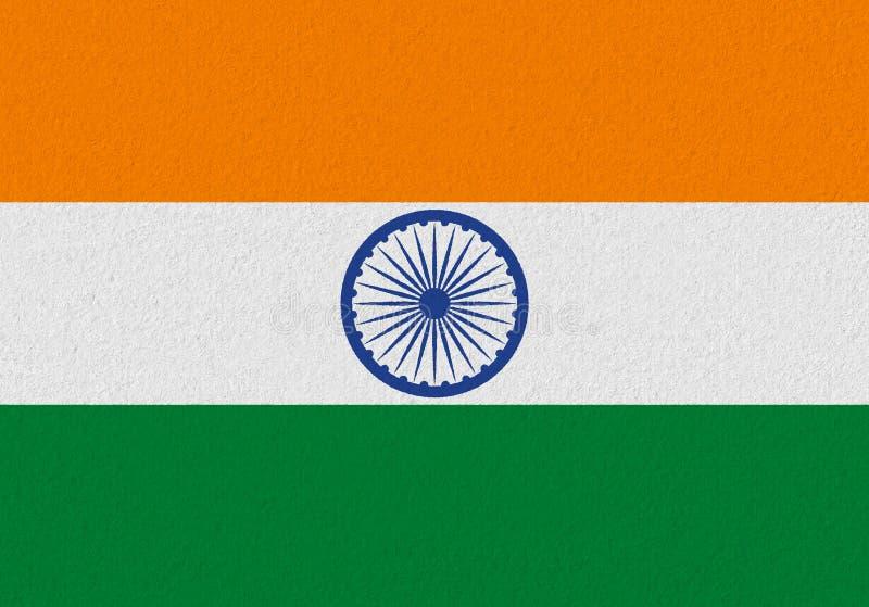 Bandiera della carta di India fotografie stock libere da diritti