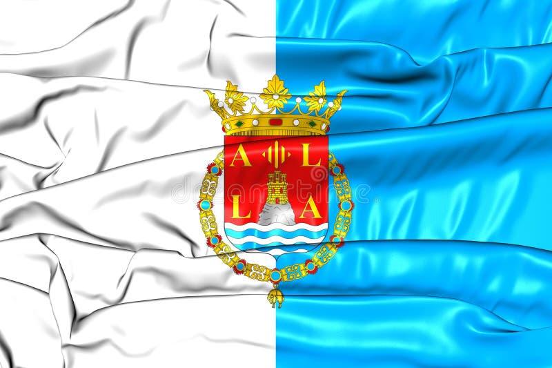 Bandiera della città di Alicante, Spagna royalty illustrazione gratis