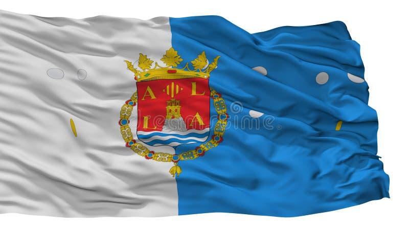 Bandiera della città di Alicante, Spagna, isolata su fondo bianco illustrazione vettoriale