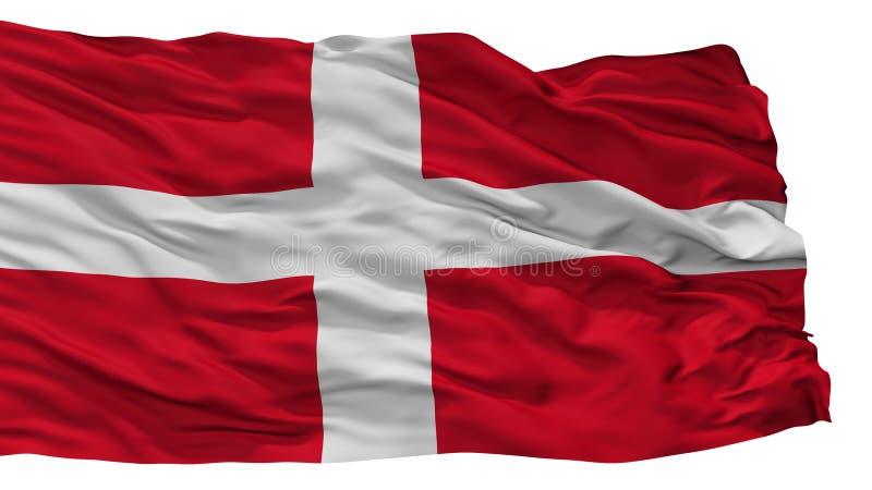 Bandiera della città di Como, Italia, isolata su fondo bianco illustrazione di stock