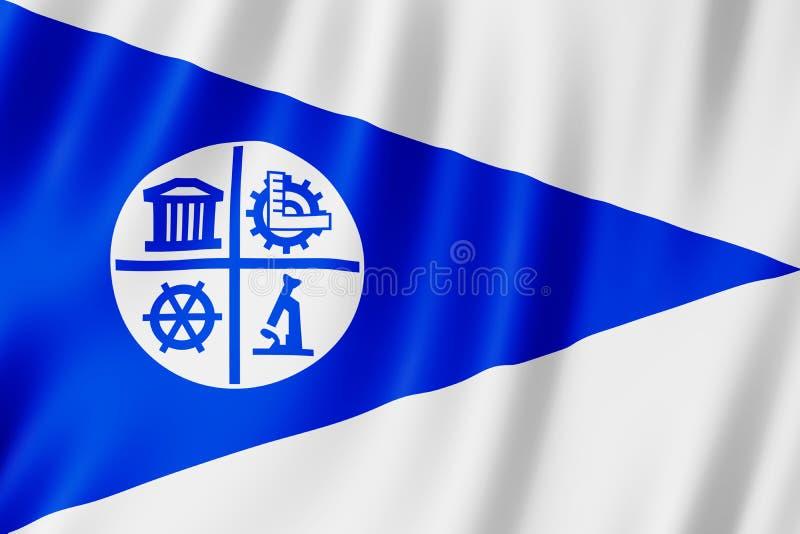 Bandiera della città di Minneapolis, Minnesota Stati Uniti illustrazione di stock