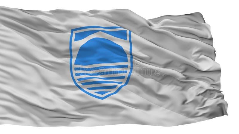 Bandiera della città di Mostar, Bosnia-Erzegovina, isolata su fondo bianco royalty illustrazione gratis