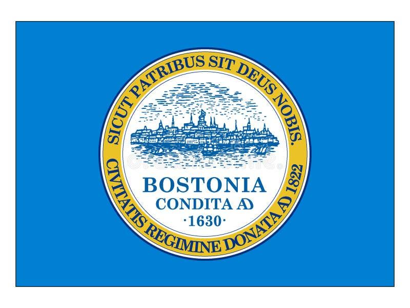 Bandiera della città di U.S.A. di Boston, Massachusetts illustrazione di stock