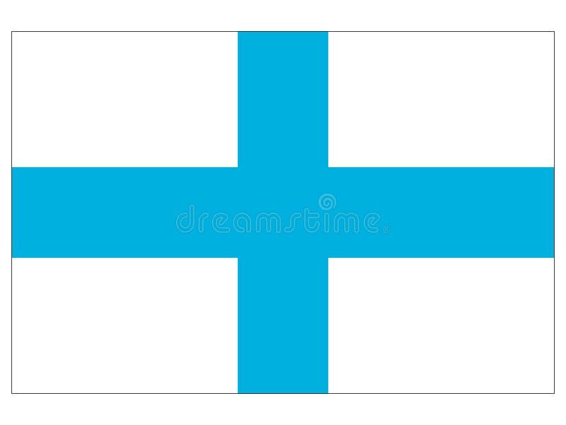 Bandiera della città francese di Marsiglia illustrazione di stock