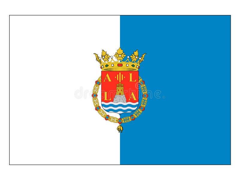 Bandiera della città spagnola di Alicante illustrazione di stock
