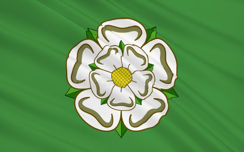 Bandiera della contea di North Yorkshire, Inghilterra illustrazione vettoriale