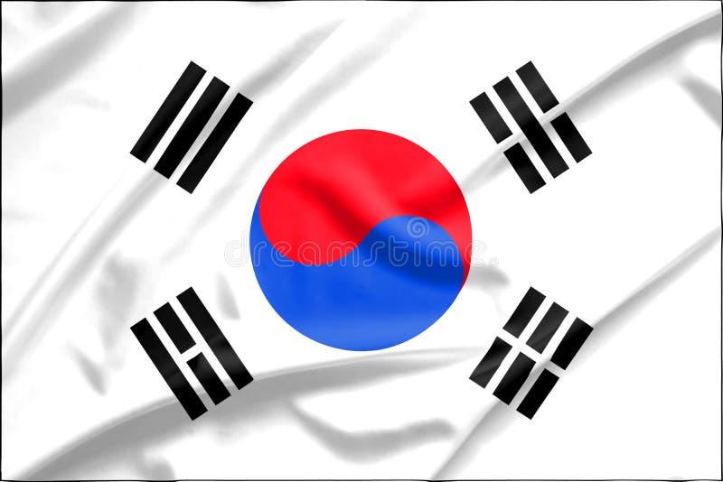 Bandiera della Corea del Sud immagine stock libera da diritti
