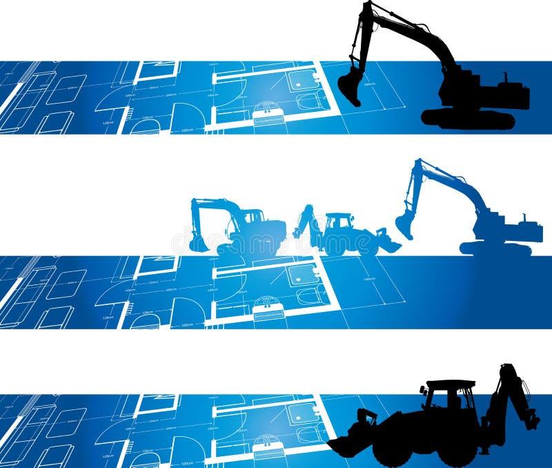 Bandiera della costruzione illustrazione di stock