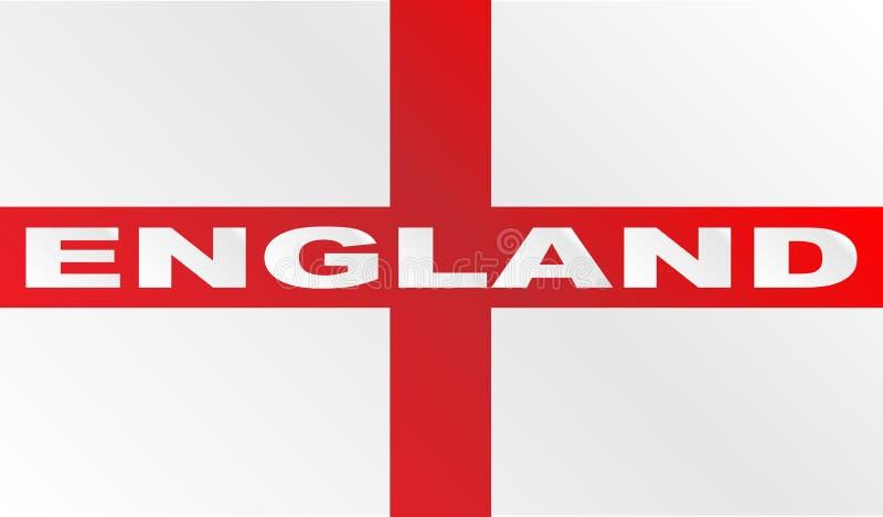 Bandiera della croce rossa dell'Inghilterra con testo illustrazione di stock