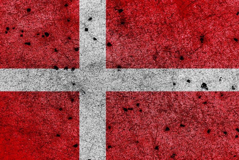 Bandiera della Danimarca con le proporzioni geometriche corrette, specificatio illustrazione vettoriale