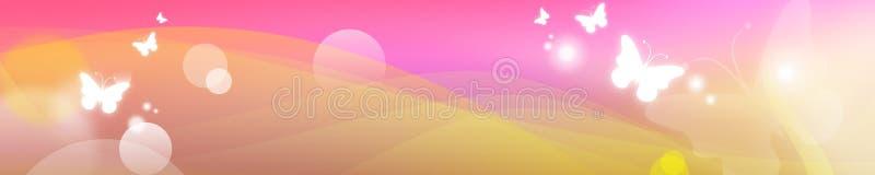 Bandiera della farfalla illustrazione vettoriale