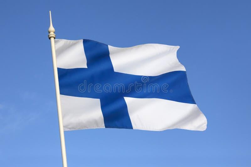 Bandiera della Finlandia - la Scandinavia - Europa fotografia stock libera da diritti
