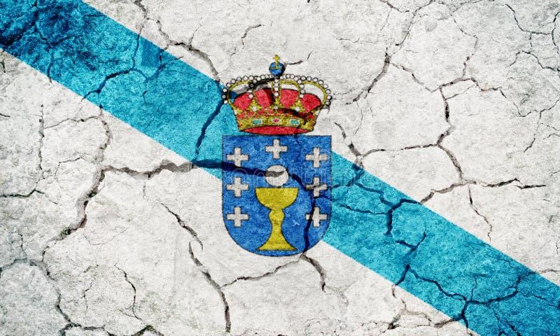 Bandiera della Galizia fotografie stock