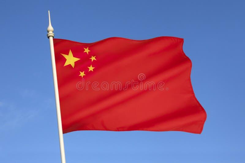 Bandiera della gente Repubblica Cinese fotografia stock libera da diritti