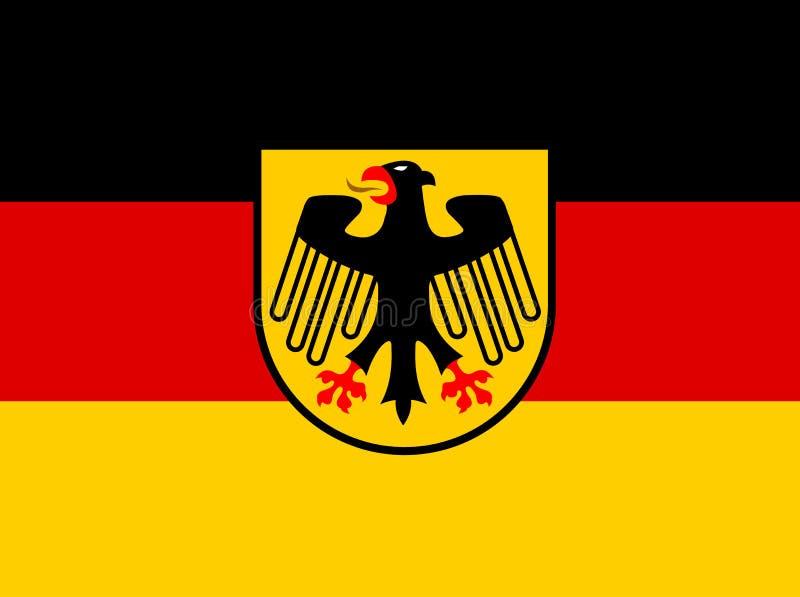 Bandiera della germania con il vettore della stemma - Bandiera della pagina di colorazione della germania ...