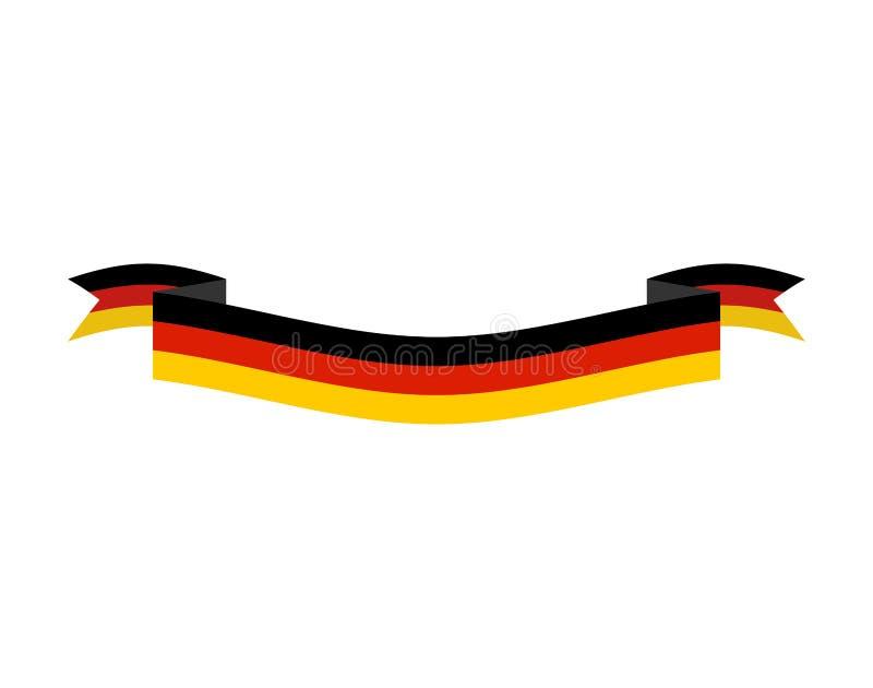Bandiera della germania isolata insegna tedesca del nastro - Bandiera della pagina di colorazione della germania ...