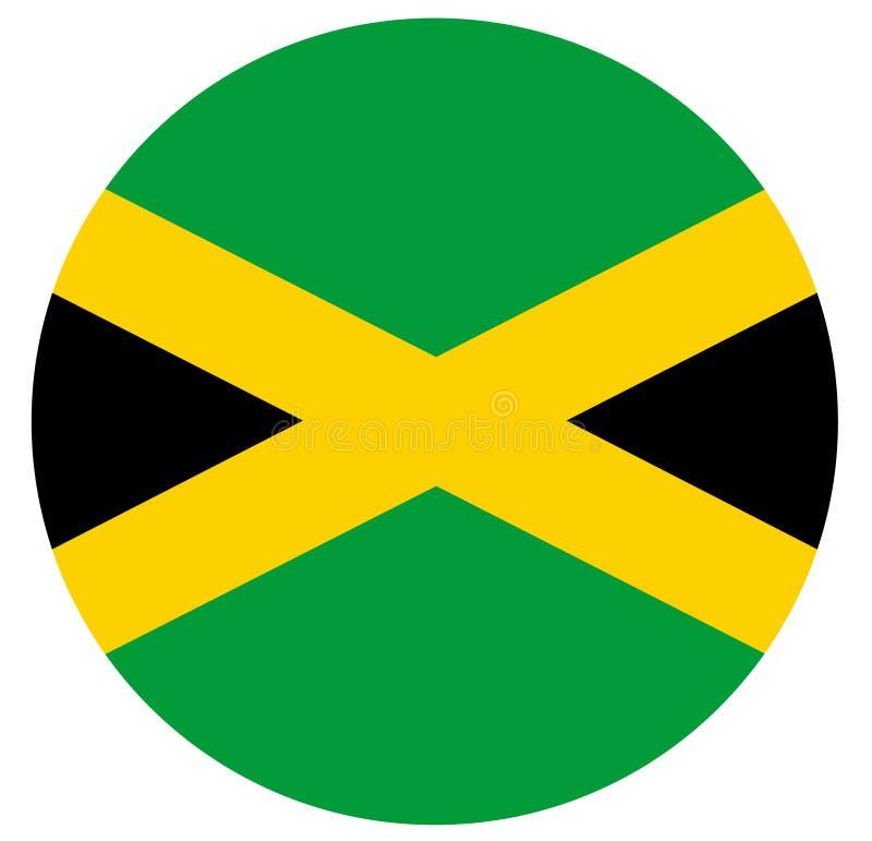 Bandiera della Giamaica - paese di isola situato nel mar dei Caraibi illustrazione vettoriale