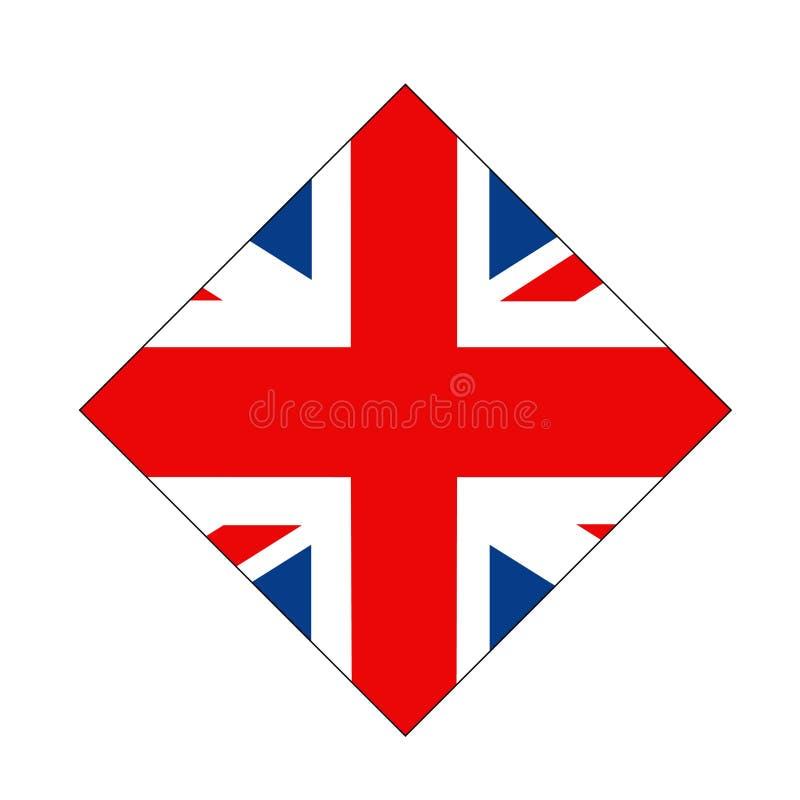 Bandiera della Gran Bretagna - isola nell'Oceano Atlantico del nord fuori dalla costa di nord-ovest di Europa continentale illustrazione di stock