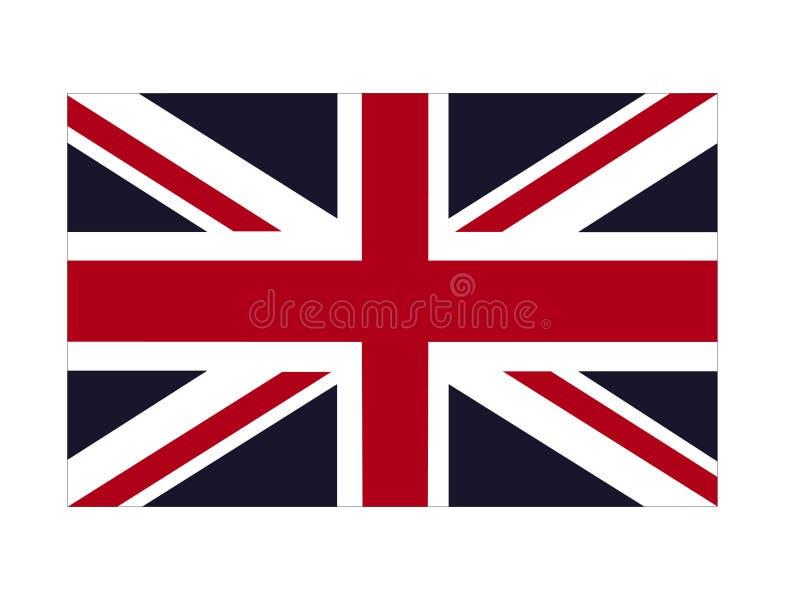 Bandiera della Gran Bretagna - isola nell'Oceano Atlantico del nord fuori dalla costa di nord-ovest di Europa continentale illustrazione vettoriale