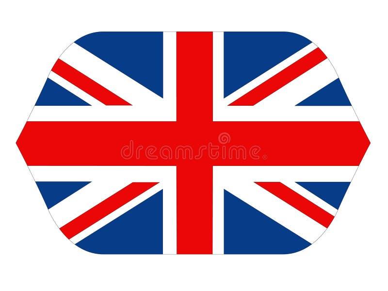 Bandiera della Gran Bretagna - isola nell'Oceano Atlantico del nord fuori dalla costa di nord-ovest di Europa continentale royalty illustrazione gratis