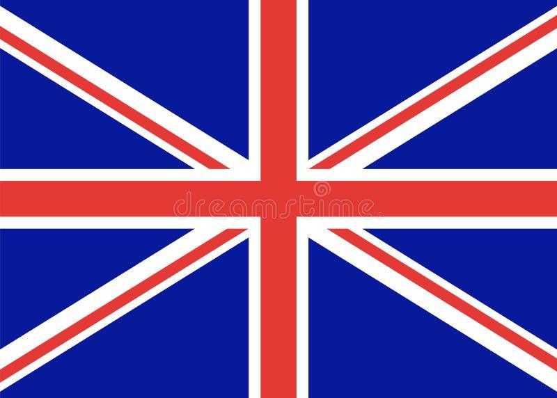 Bandiera della Gran Bretagna, stato ufficiale Un segno distintivo del Regno Unito inglese Colore di vettore Bandierina dell'Inghi illustrazione di stock