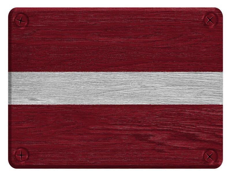 Bandiera della Lettonia fotografia stock libera da diritti