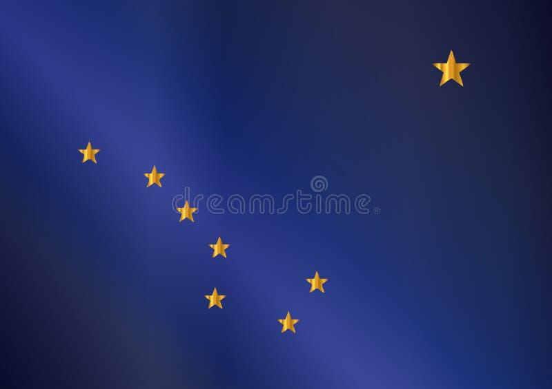 Bandiera della lucentezza dell'Alaska illustrazione vettoriale