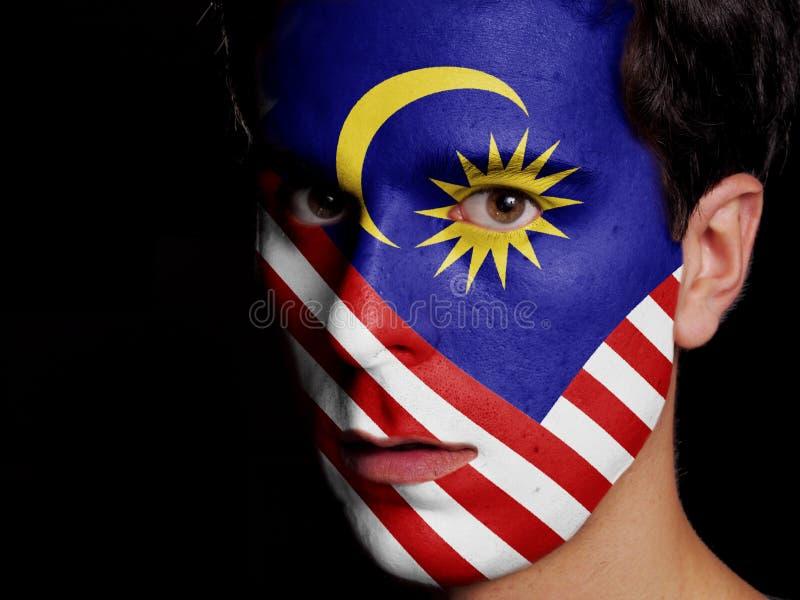 Bandiera della Malesia immagini stock