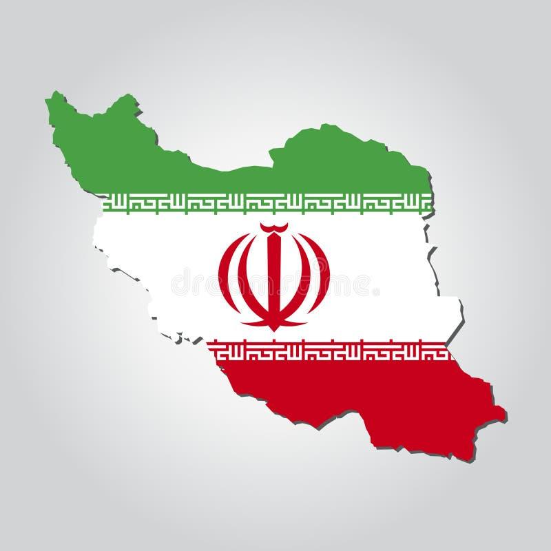 Bandiera della mappa dell'Iran royalty illustrazione gratis