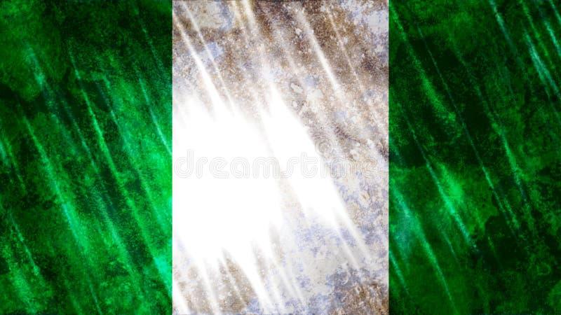 Bandiera della Nigeria royalty illustrazione gratis