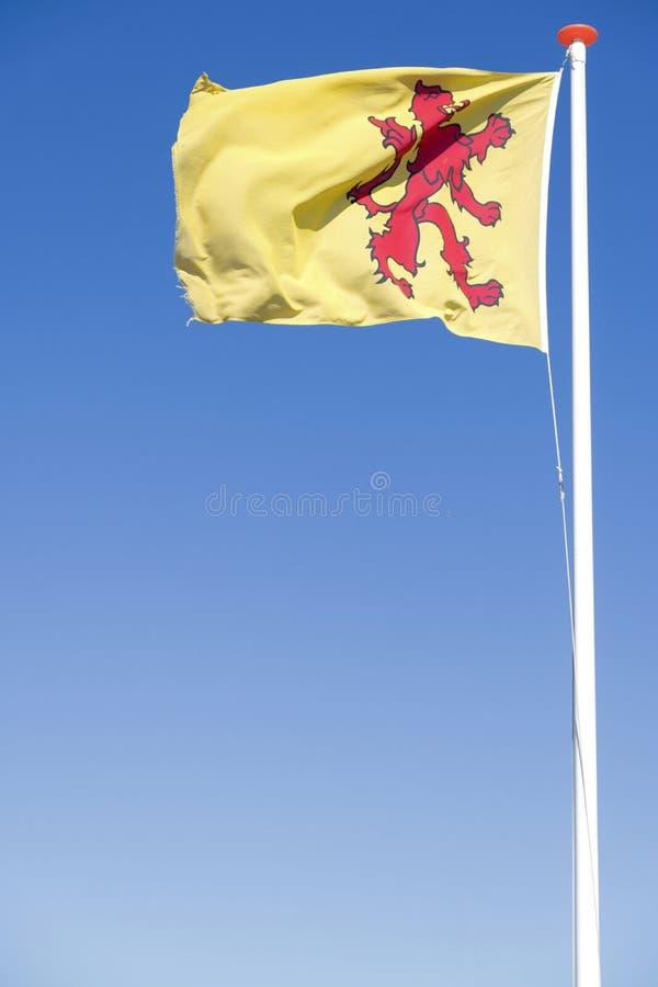 Bandiera della provincia olandese l'Olanda Meridionale immagine stock libera da diritti
