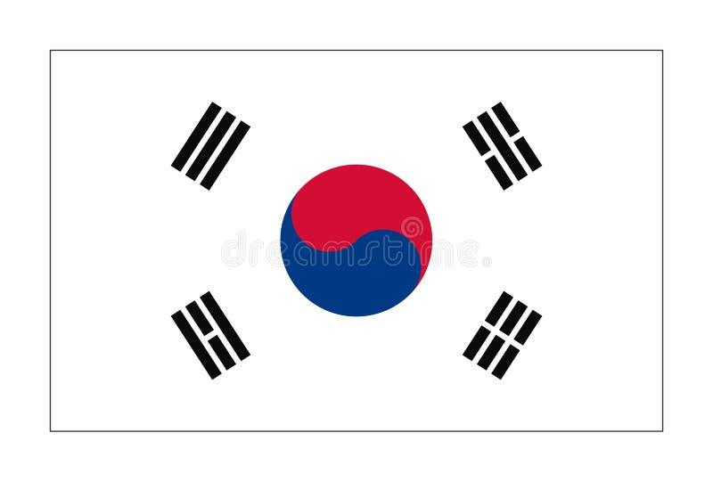 Bandiera della Repubblica Corea illustrazione vettoriale