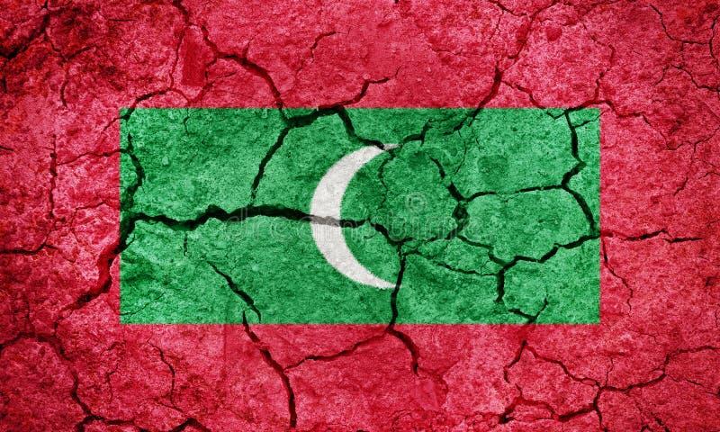 Bandiera della Repubblica delle Maldive immagine stock libera da diritti