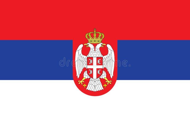 Bandiera della Serbia Formato di vettore illustrazione vettoriale