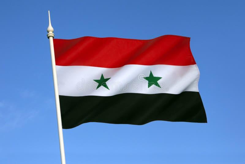 Bandiera della Siria fotografia stock libera da diritti