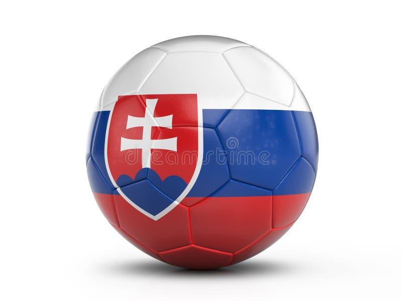 Bandiera della Slovacchia del pallone da calcio illustrazione vettoriale