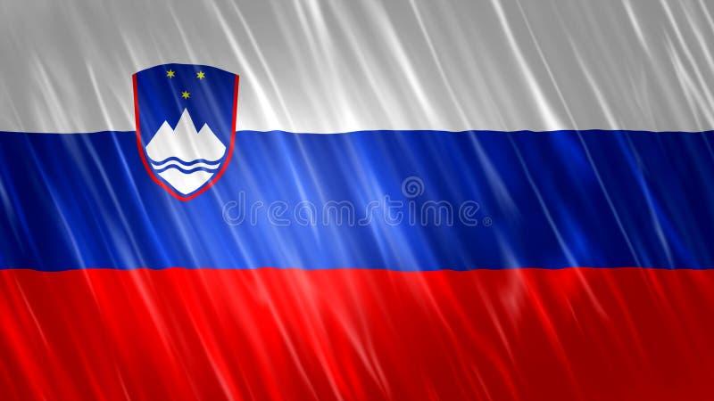 Bandiera della Slovenia royalty illustrazione gratis