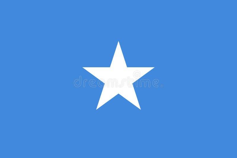 Bandiera della Somalia I rapporti ed i colori sono osservati fotografia stock libera da diritti