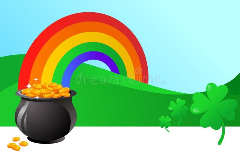 Bandiera della st Patrick illustrazione di stock