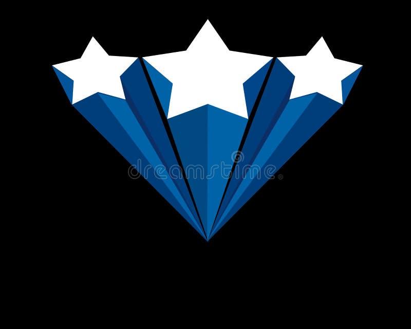 Bandiera della stella illustrazione di stock
