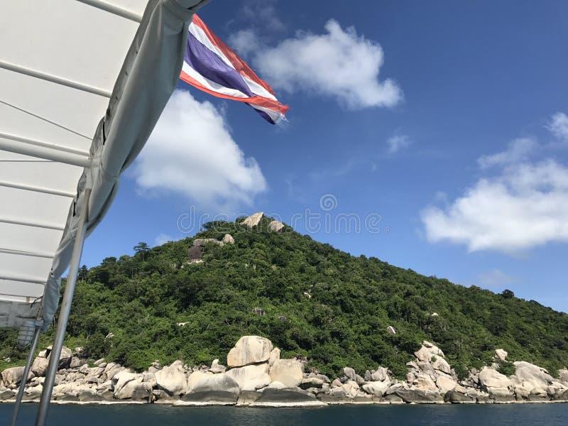 Bandiera della Tailandia fotografie stock libere da diritti