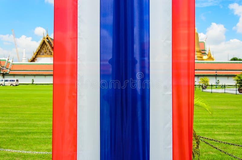 Bandiera della Tailandia in Wat Pha Kaew immagini stock libere da diritti
