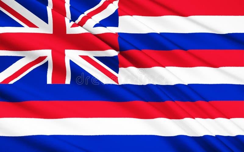 Bandiera delle Hawai U.S.A., Honolulu - Polinesia illustrazione vettoriale