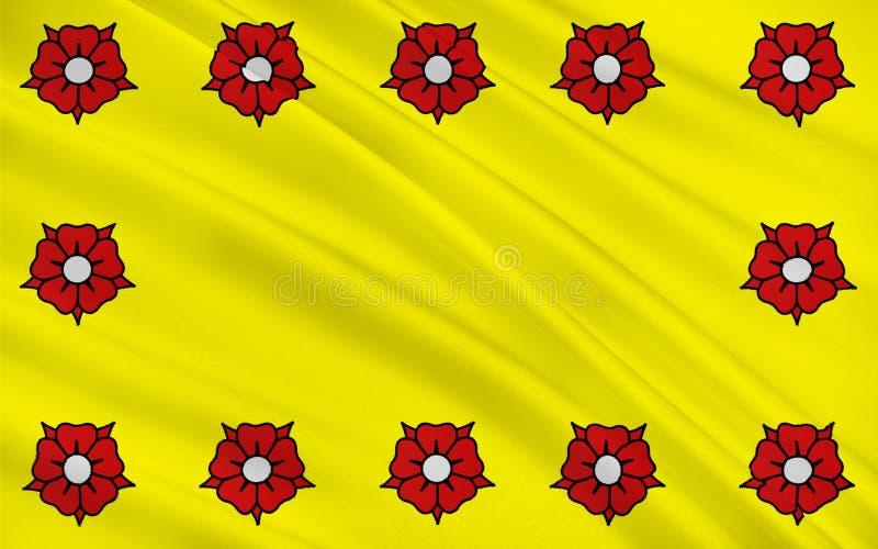Bandiera delle LHay-les-rose, Francia illustrazione di stock