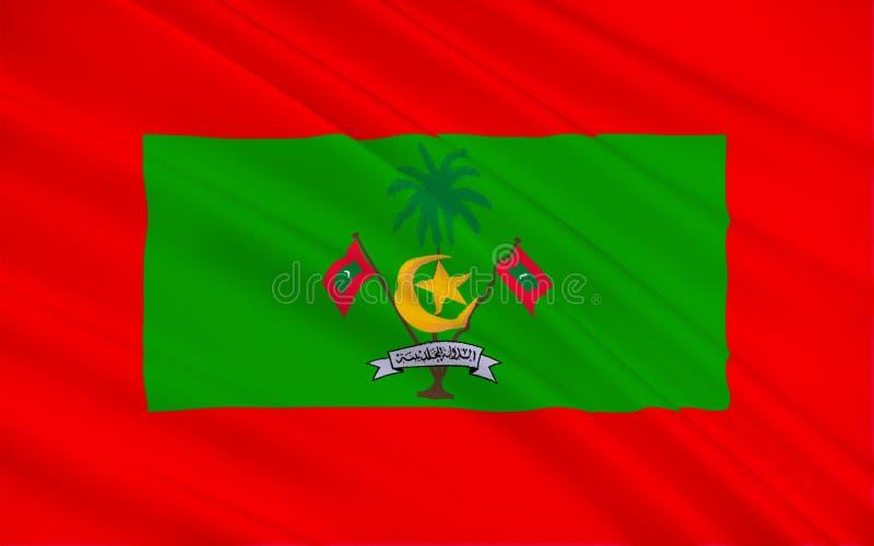 Bandiera delle Maldive immagine stock