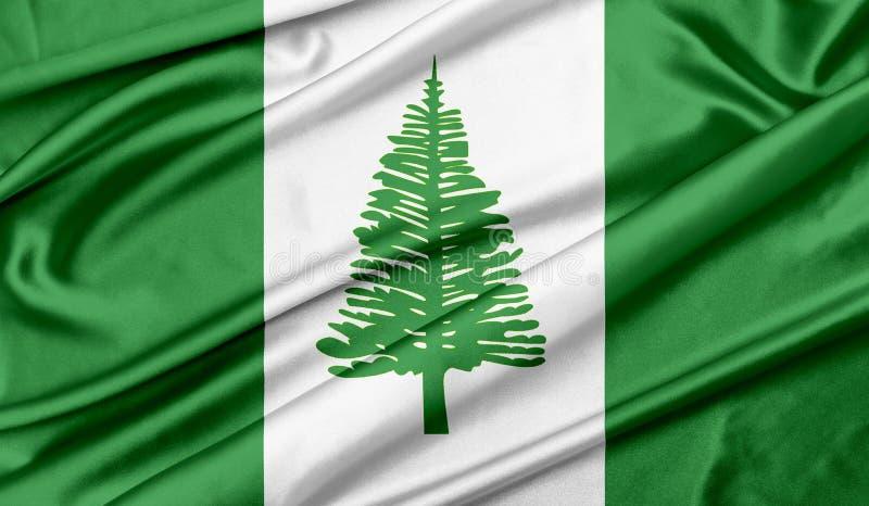 Bandiera dello sfondo della trama dell'isola di Norfolk immagine stock libera da diritti