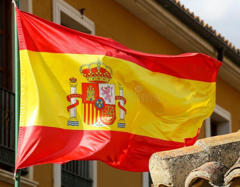 Bandiera dello Spagnolo fotografia stock