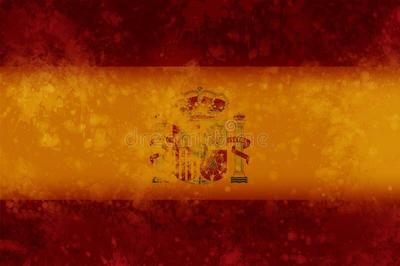 Bandiera dello Spagnolo illustrazione vettoriale